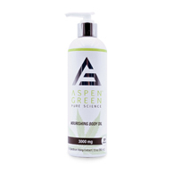 Aspen Green CBD Professional Nourishing Body Oil-3000mg-12oz
