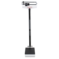Detecto 438 400 lb Capacity Beam Scale with Height Rod and Wheels