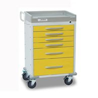 Detecto Rescue Isolation Medical Carts-Yellow