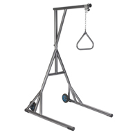 Drive 13039SV Heavy Duty Trapeze w/ Base and Wheels-Silver Vein