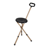 Drive Medical RTL10365-ADJ Folding Cane Seat-Adjustable Height-Bronze
