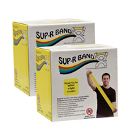 Sup-R Band Latex Free Exercise Bands-Twin-Pak-100 Yards Total